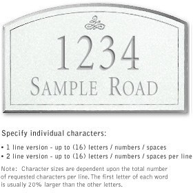 Salsbury 1421WSIS Signature Series Address Plaque