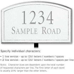 Salsbury 1421WSNL Signature Series Address Plaque