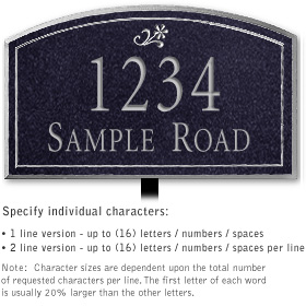 Salsbury 1420BSDL Signature Series Address Plaque