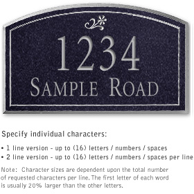 Salsbury 1420BSDS Signature Series Address Plaque