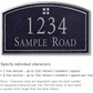 Salsbury 1420BSGS Signature Series Address Plaque