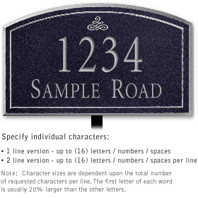 Salsbury 1420BSIL Signature Series Address Plaque