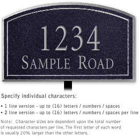 Salsbury 1420BSNL Signature Series Address Plaque