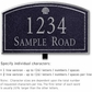 Salsbury 1420BSSL Signature Series Address Plaque