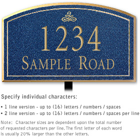 Salsbury 1420CGIL Signature Series Address Plaque