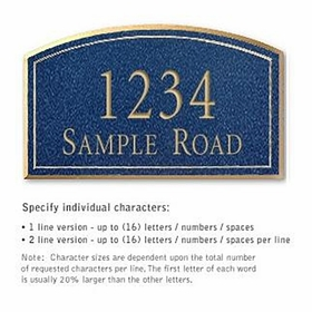 Salsbury 1420CGNS Signature Series Address Plaque