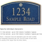 Salsbury 1420CGSS Signature Series Address Plaque