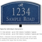Salsbury 1420CSDL Signature Series Address Plaque