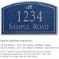 Salsbury 1420CSDS Signature Series Address Plaque