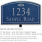 Salsbury 1420CSFL Signature Series Address Plaque