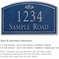 Salsbury 1420CSFS Signature Series Address Plaque