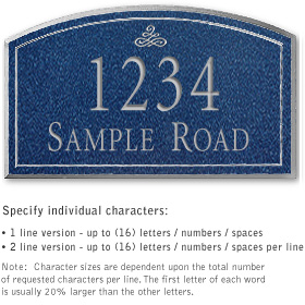 Salsbury 1420CSIS Signature Series Address Plaque