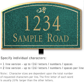 Salsbury 1420JGDL Signature Series Address Plaque