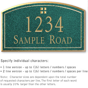Salsbury 1420JGGS Signature Series Address Plaque
