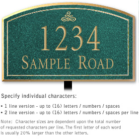 Salsbury 1420JGIL Signature Series Address Plaque