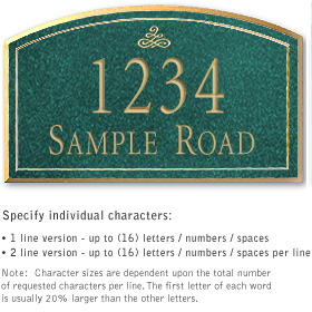 Salsbury 1420JGIS Signature Series Address Plaque