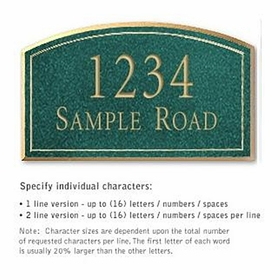Salsbury 1420JGNS Signature Series Address Plaque