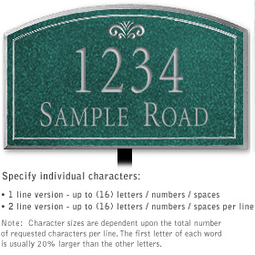 Salsbury 1420JSFL Signature Series Address Plaque