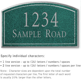Salsbury 1420JSNS Signature Series Address Plaque