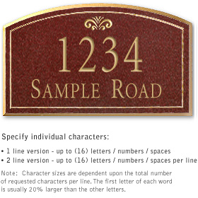 Salsbury 1420MGFS Signature Series Address Plaque