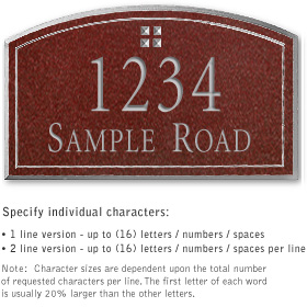 Salsbury 1420MSGS Signature Series Address Plaque