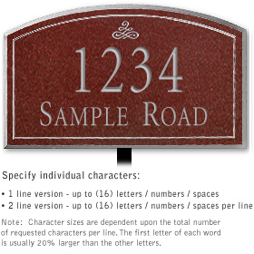 Salsbury 1420MSIL Signature Series Address Plaque