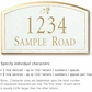 Salsbury 1420WGDS Signature Series Address Plaque