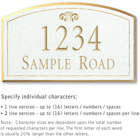 Salsbury 1420WGFS Signature Series Address Plaque