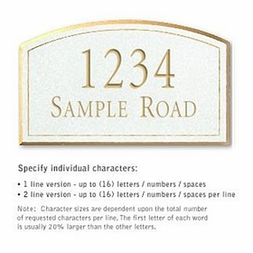 Salsbury 1420WGNS Signature Series Address Plaque