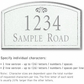 Salsbury 1420WSFS Signature Series Address Plaque
