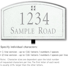 Salsbury 1420WSGL Signature Series Address Plaque