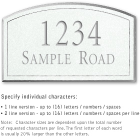 Salsbury 1420WSNS Signature Series Address Plaque