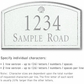 Salsbury 1420WSSS Signature Series Address Plaque