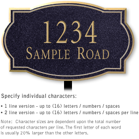 Salsbury 1442BGNL Signature Series Address Plaque