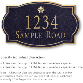 Salsbury 1442BGSS Signature Series Address Plaque