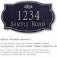Salsbury 1442BSFS Signature Series Address Plaque