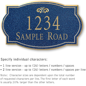 Salsbury 1442CGFS Signature Series Address Plaque