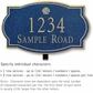 Salsbury 1442CGSL Signature Series Address Plaque