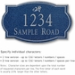 Salsbury 1442CSDS Signature Series Address Plaque
