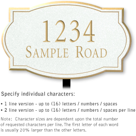 Salsbury 1442WGNL Signature Series Address Plaque