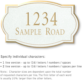 Salsbury 1442WGNS Signature Series Address Plaque