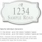 Salsbury 1442WSDS Signature Series Address Plaque