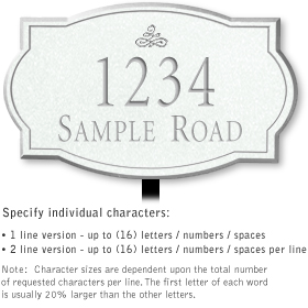 Salsbury 1442WSIL Signature Series Address Plaque