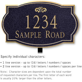 Salsbury 1441BGFL Signature Series Address Plaque