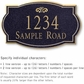 Salsbury 1441BGFS Signature Series Address Plaque