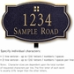 Salsbury 1441BGGL Signature Series Address Plaque