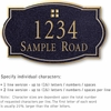 Salsbury 1441BGGS Signature Series Address Plaque