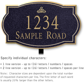 Salsbury 1441BGIL Signature Series Address Plaque