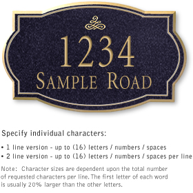 Salsbury 1441BGIS Signature Series Address Plaque