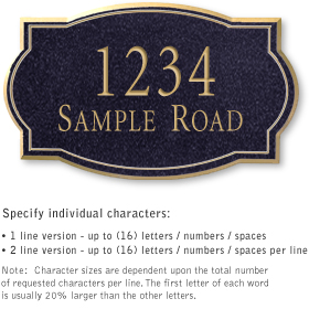 Salsbury 1441BGNS Signature Series Address Plaque